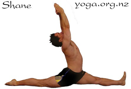 Shane more flexible through yoga