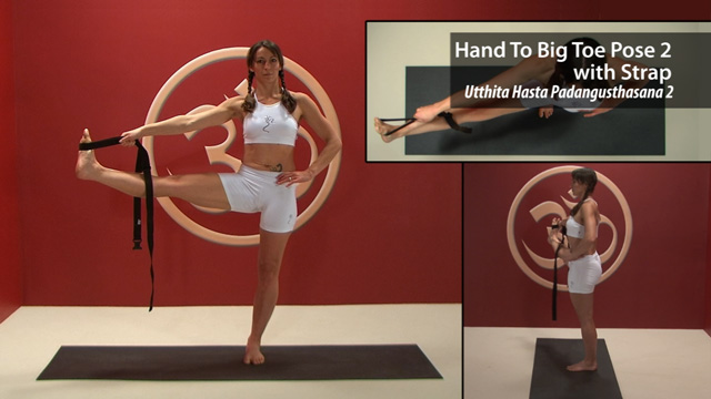 Hand to Big Toe Pose 2 with Strap-Utthita Hasta Padangusthasana 2