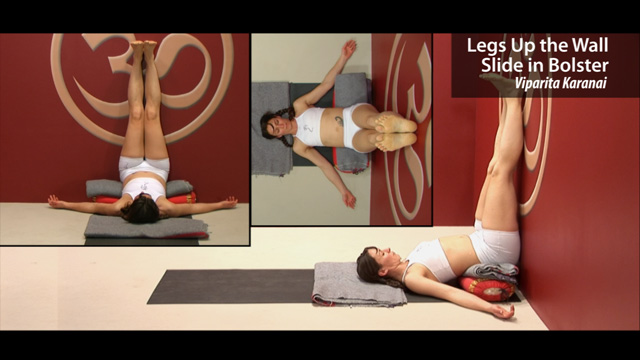 Legs up the Wall Slide in Bolster – Viparita Karani