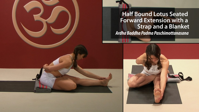 Half Bound Lotus Seated Forward Extension